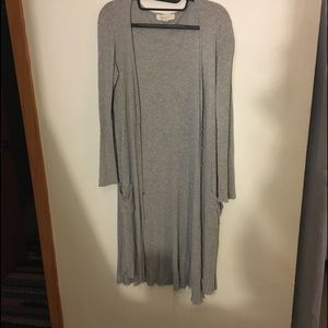 Gray duster Cardigan